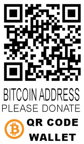 PLEASE DONATE Bitcoin BTC wallet qr code address thank you very much.