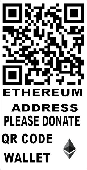 Ethereum donate, please donation ETH wallet qr code addess. thank and happy day.